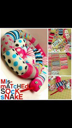Mix match sock snake.