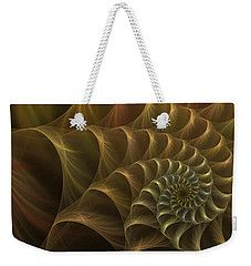 Weekender Tote Bag featuring the digital art Nautilus  by Elena Ivanova IvEA #ElenaIvanovaIvEAFineArtDesign #WeekenderToteBags #IvEA #Gift #Accessories #Design #Print