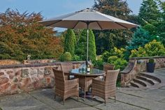 Enjoy the summer sun in style and with some good food with this Rochelle 4 Seat Dining Set. Enjoy The Sunshine, Summer Sun, Dining Set, Garden Furniture, Patio, Outdoor Decor, Food, Home Decor, Style