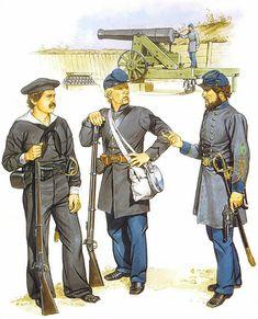 """Seaman, CS Navy - Sgt., CS Marine Corps - 2nd Lt., CS Marine Corps (1865)"", Ron Volstad"