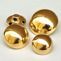 MG-7240-Domed Gold Metal Button - 2 Sizes