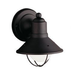 Kichler - 9021BK - Seaside Small Painted Black Outdoor Wall Light
