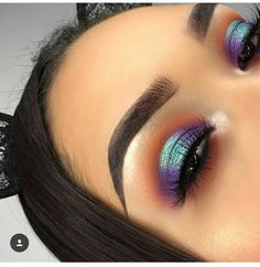 (notitle) # Beauty-Tipps und Tricks - Makeup eye looks - Eye-Makeup Peacock Eye Makeup, Dramatic Eye Makeup, Makeup Eye Looks, Dramatic Eyes, Cute Makeup, Glam Makeup, Skin Makeup, Makeup Inspo, Eyeshadow Makeup