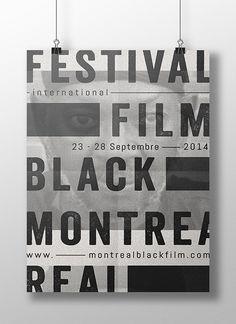 Montreal International Black Film Festival Poster by Sarah Dufour