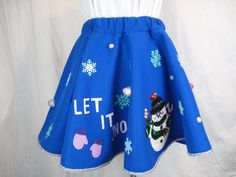 Ugly Tacky Christmas Sweater Party Skirt by DicardomyHoliday