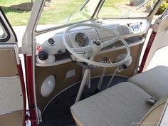 vw bus interior | VW Camper 1967 Deluxe Bus - interior detailed pictures | Bus and ...