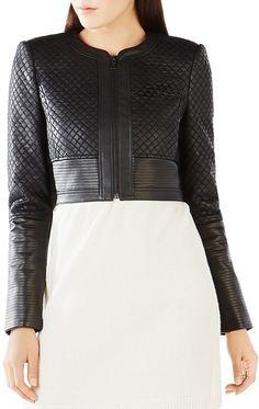 BCBGMAXAZRIA Cohen Faux Leather Jacket
