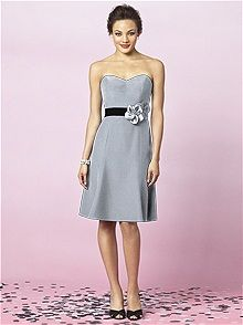 After Six Style 6634 #gray #bridesmaid #dress