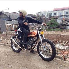 """Killer Yamaha/Hahaha (look close) #desertsled by Yusuf of #LawlessJakarta (@ucuplawless)."""