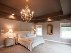 Remodeled bedroom with ample space.
