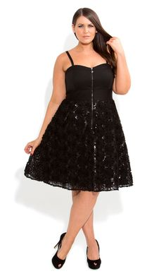 City Chic - ROXETTE PARTY DRESS - Women's plus size fashion