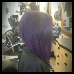 Purple hair, long Bob, a-line hair cut ♡ Pamela Jazmin ♡