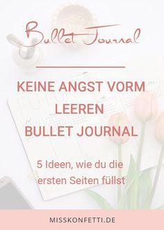 Bullet Journal - 5 tolle Ideen für den Anfang