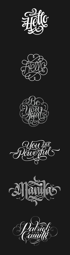 2014 Digital Type Compilation by Patrick Cabral