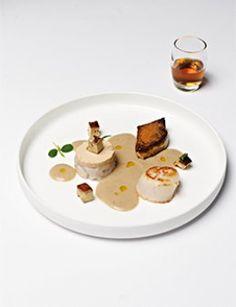 Culinaire Ambiance:Kastanjesoepje van cognac met ganzenlever en sint- jakobsvruchtjes