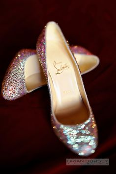 Louboutins <3 | To see more: http://www.modwedding.com/2014/05/14/glamorous-nyc-wedding-from-brian-dorsey-studios/