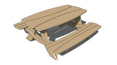 """Stylized Picnic Table"" is a SketchUp model created by Michael Island. You can download it for free at Michael-Island.com..."