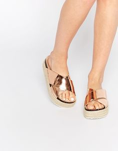 summer flats, bronze flats, copper slip ons