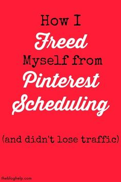 There are so many tips for the best pinterest strategy for bloggers and the best pinterest scheduler - here is how I freed my life from scheduling, and my traffic didn't drop!: