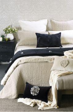 percorsi natural linen bedspread