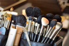 mac makeup brushes galore!