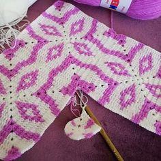 Manta Crochet, Crochet Mandala, Tapestry Crochet, Crochet Motif, Crochet Designs, Crochet Flowers, Crochet Stitches, Crochet Home, Diy Crochet