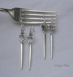 Vintage Fork Tine Earrings.