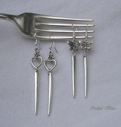 Vintage Fork Tine Earrings.