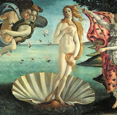 Botticelli's famous 1486 Renaissance painting, The Birth of Venus