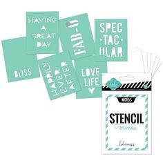 Heidi Swapp Mini Stencil Kit - Words - Save 15% at Joggles.com