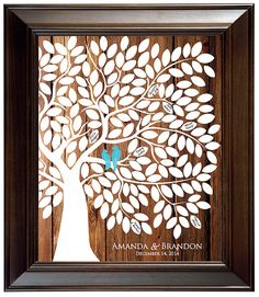 Guest Book Alternative Guest Book Tree Wood Wedding by fancyprints