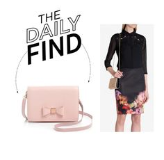 """The Daily Find: Ted Baker Bow Crossbody Bag"" by polyvore-editorial ❤ liked on Polyvore featuring Ted Baker and DailyFind"