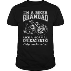 I'm A Biker Grandad Just Like A Normal Grandad Except Much Cooler T-Shirt, Hoodie Motorbikes Tee Shirts Biker Shirts, Tee Shirts, Xmas Shirts, Honda Cb1000r, Cool Tees, Cool Shirts, Funny Shirts, Malta, Shirts