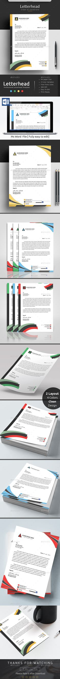 MS Word Letterhead Template Letterhead template, Template and - ms word letterhead templates free download