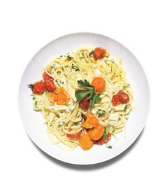 Spaghetti With Ricotta and Tomatoes recipe: Roasting the tomatoes intensifies their sweet flavor; the ricotta adds a creamy richness.