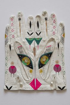 bonnie reiss handpainted gloves