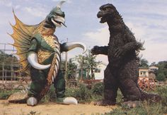 Godzilla vs Gigan Godzilla Vs Gigan, Godzilla Franchise, Monster Board, Creature Picture, Horror, Japanese Monster, Shadow Dragon, Cool Monsters, Fantasy Movies