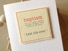 JW Baptism Card -  Best Life Ever - Bible quotation - JW Gift -  sewn handmade by WildBB on Etsy https://www.etsy.com/listing/222658401/jw-baptism-card-best-life-ever-bible