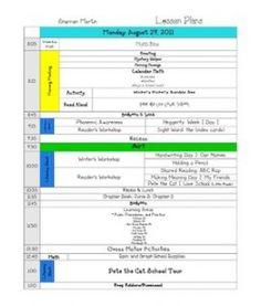First week of school plans