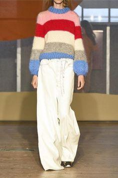 GANNI | Julliard striped mohair and wool-blend sweater | NET-A-PORTER.COM