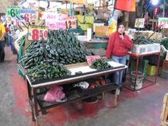 Mercado Merced Produce Walkthrough, Mexico City