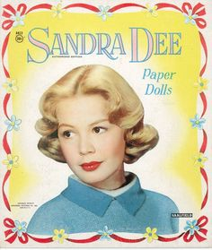 Sandra Dee paper doll cover. This was one of my all time favorite paper dolls. I still have it, cut of course. Played with it for years. Still have all the pieces. This one is from eBay