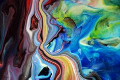 Abstract Fluid Painting 57 By Mark Chadwick