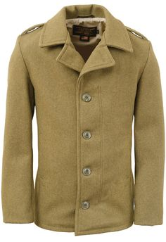 """M41 field coat in 24oz wool 798  29"""" M41 field coat in 24oz wool has epaulets, cotton lining, and two front pockets. Union made in U.S.A."""