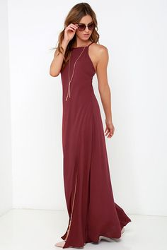 Gentle Fawn Courtyard Stroll Burgundy Maxi Dress at Lulus.com!
