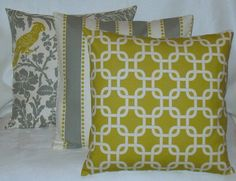 NEW SET of Three 18 x 18 Pillow Covers Premier Prints Summerland. $35.00, via Etsy.