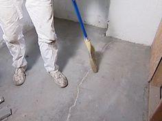 Repairing cracks in concrete is an easy project any DIYer can do. Not only does it make the concrete look better but it extends the life of the concrete by keeping out the elements.