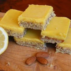 Paleo lemon bars and going over the top (change out honey as desired)