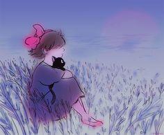 Воскресный винегрет. Сто двадцать третий выпуск - Творчество поклонников Студии GHIBLI Kiki's Delivery Service, Studio Ghibli Movies, Princess Mononoke, Hayao Miyazaki, Great Movies, Illustration Art, Illustrations, Disney Art, Neko