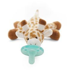 Head and shoulders above the rest, our WubbaNub Giraffe is sure to bring delight to the entire family. Soft, cuddly and so lovable it is the perfect companion to bring for baby when you are on the go. The unique style of the WubbaNub pacifier allows it to remain close and easily position to baby.